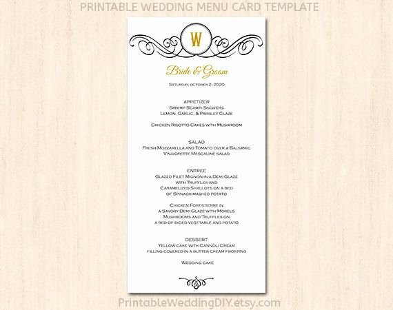 Free Printable Menu Card Template Fresh 7 Best Of Printable Wedding Menu Cards Templates