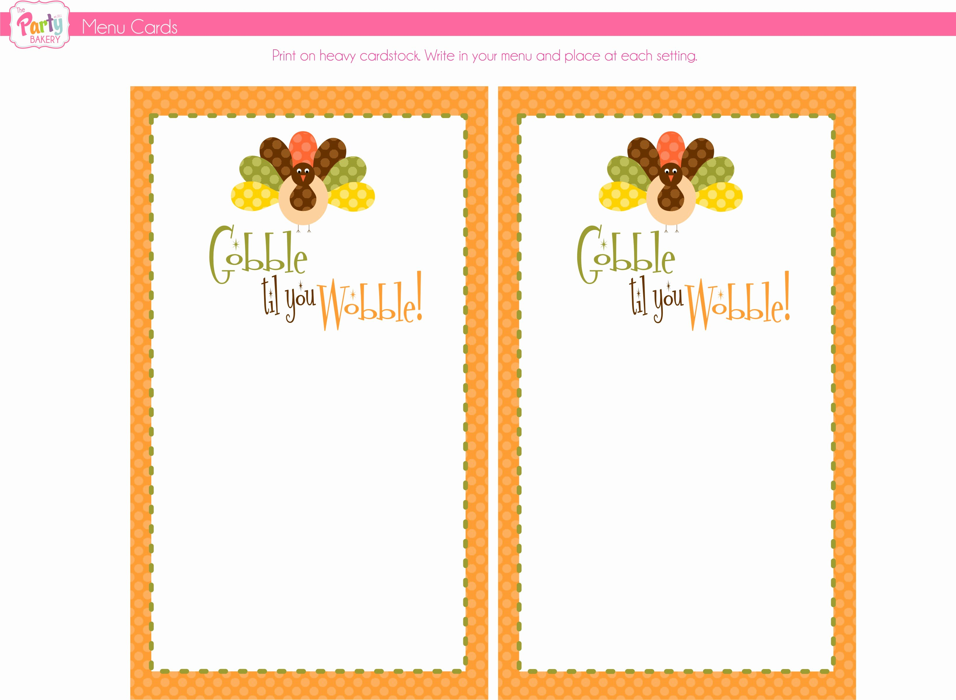 Free Printable Menu Card Template Inspirational 8 Best Of Free Thanksgiving Printable Card