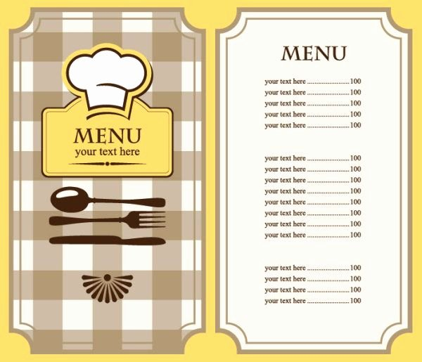Free Printable Menu Card Template Lovely 9 Best Menu Ideas Images On Pinterest
