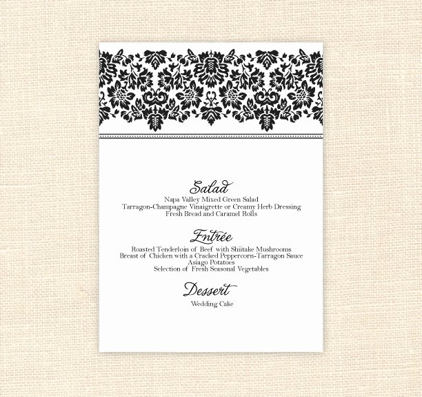 Free Printable Menu Card Template New 8 Best Of Printable Menu Cards for Weddings