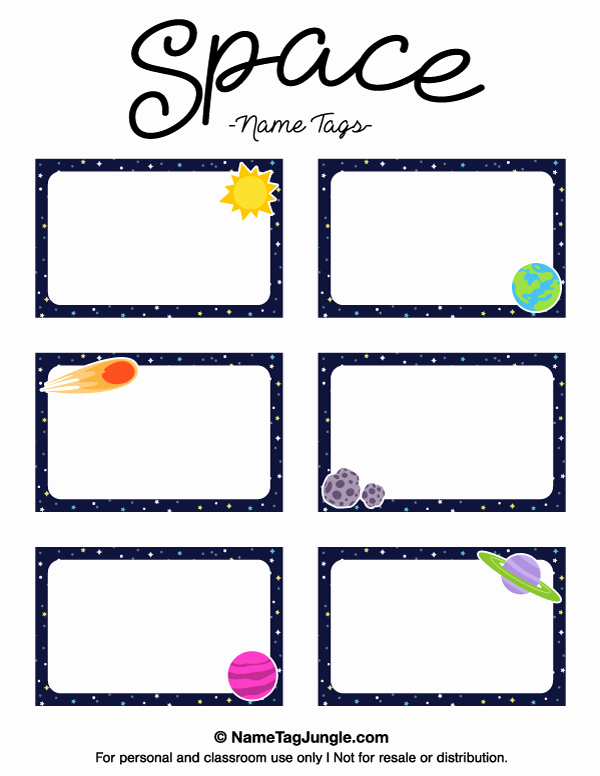 Free Printable Name Badge Template Fresh Printable Space Name Tags