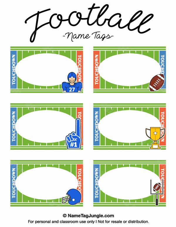 Free Printable Name Badge Template Inspirational Free Printable Football Name Tags the Template Can Also