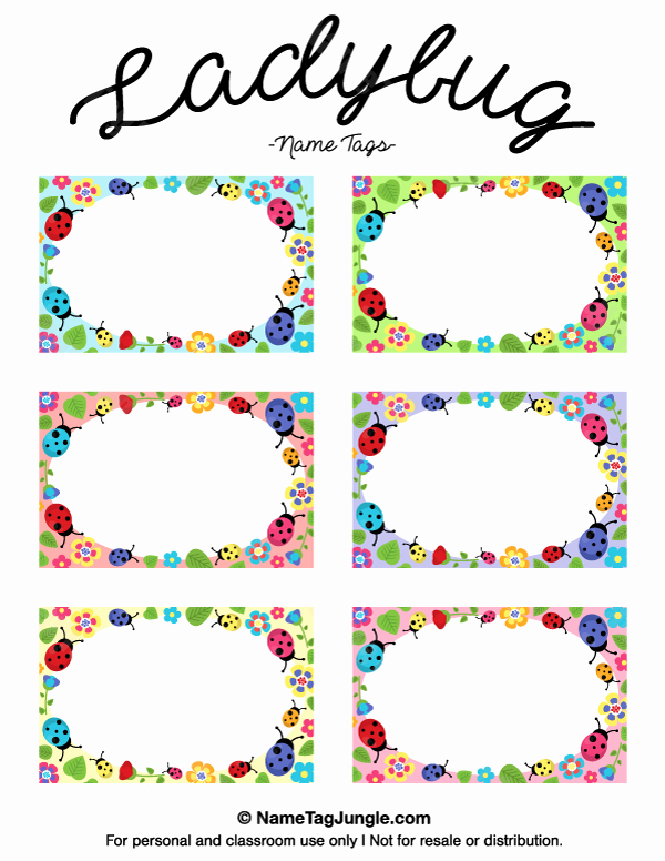 Free Printable Name Badge Template Lovely Free Printable Ladybug Name Tags the Template Can Also Be