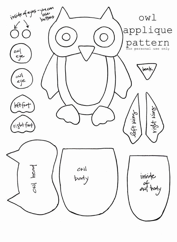 Free Printable Owl Template Awesome Owl Template Jolies Chouettes