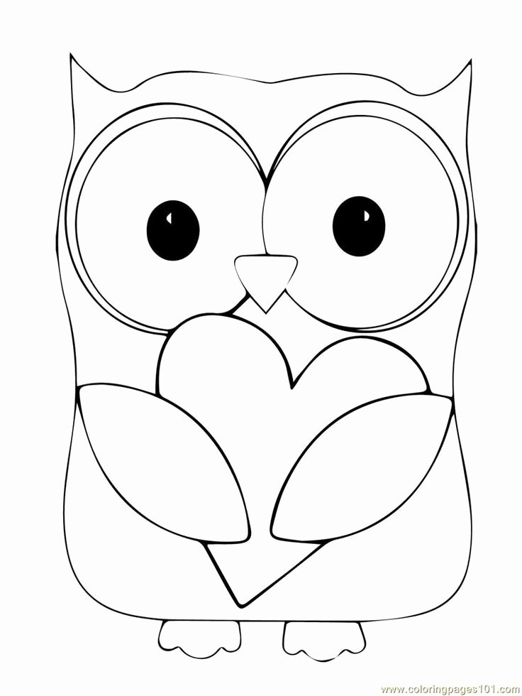 Free Printable Owl Template Beautiful Best 25 Free Printable Coloring Pages Ideas On Pinterest