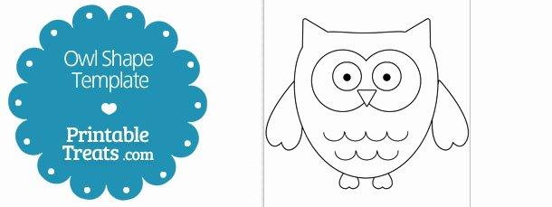 Free Printable Owl Template Beautiful Printable Owl Shape Template — Printable Treats