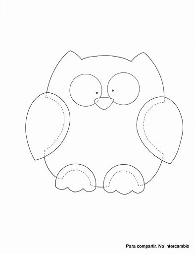 Free Printable Owl Template Best Of Good for Quilt Outline Embroidery or Cut Out and Make A