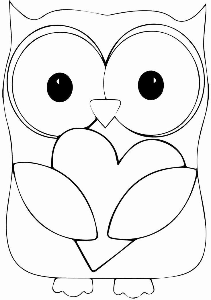 Free Printable Owl Template Fresh Printable Animal Owl Coloring Sheets for Kindergarten