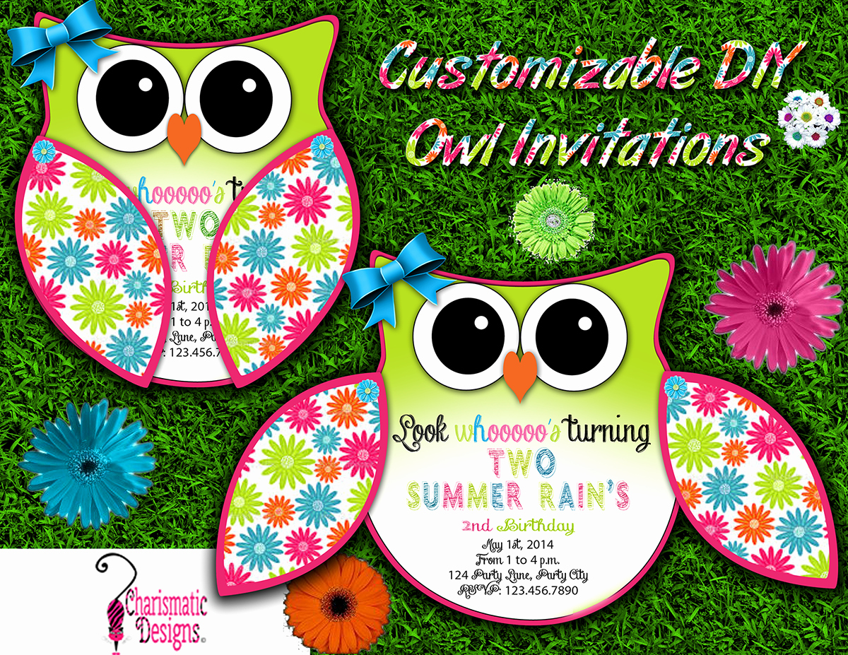 Free Printable Owl Template Inspirational Free Diy Customizable Owl Invitation Printable Template On