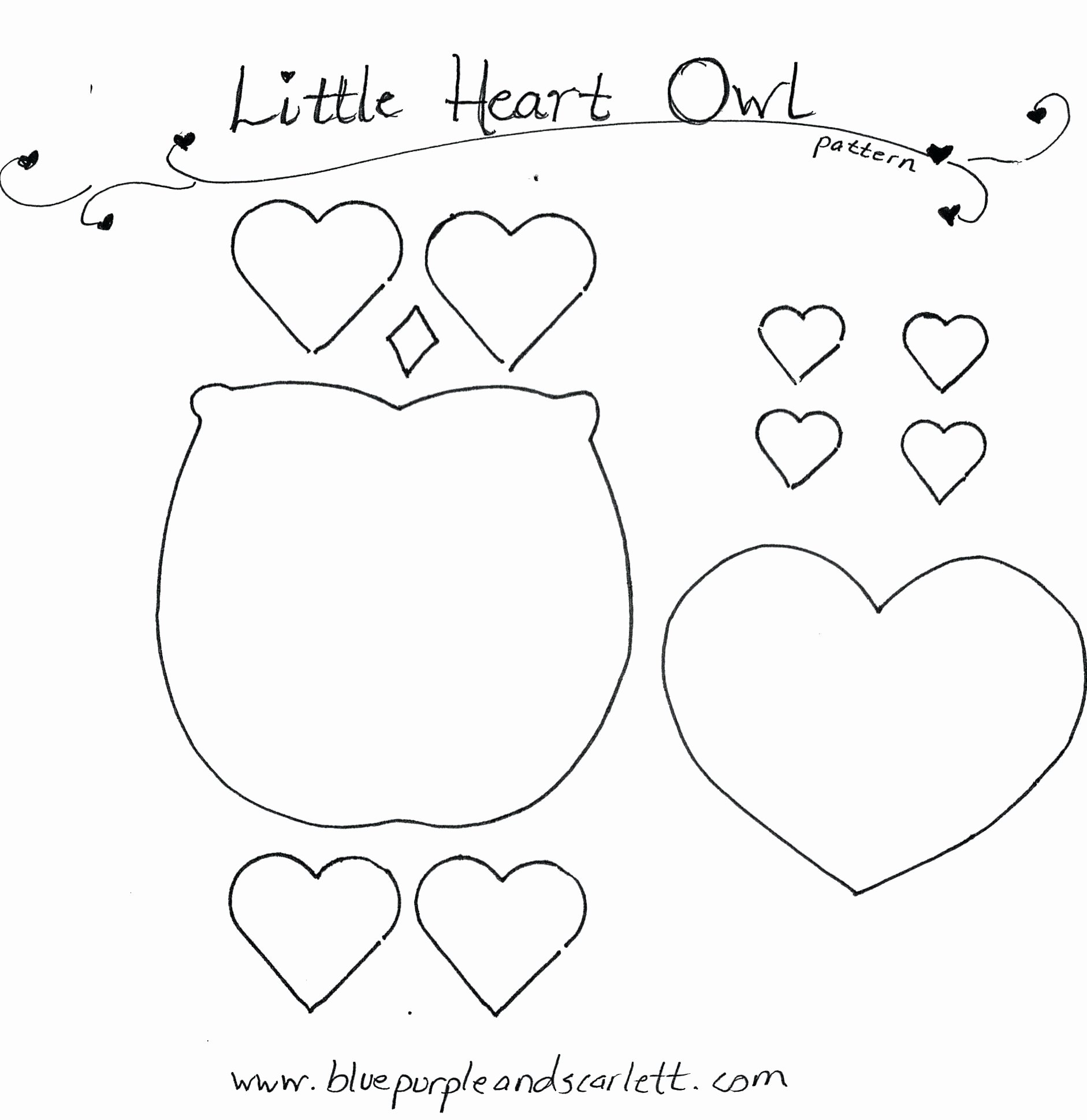 Free Printable Owl Template Inspirational Printable Craft Template