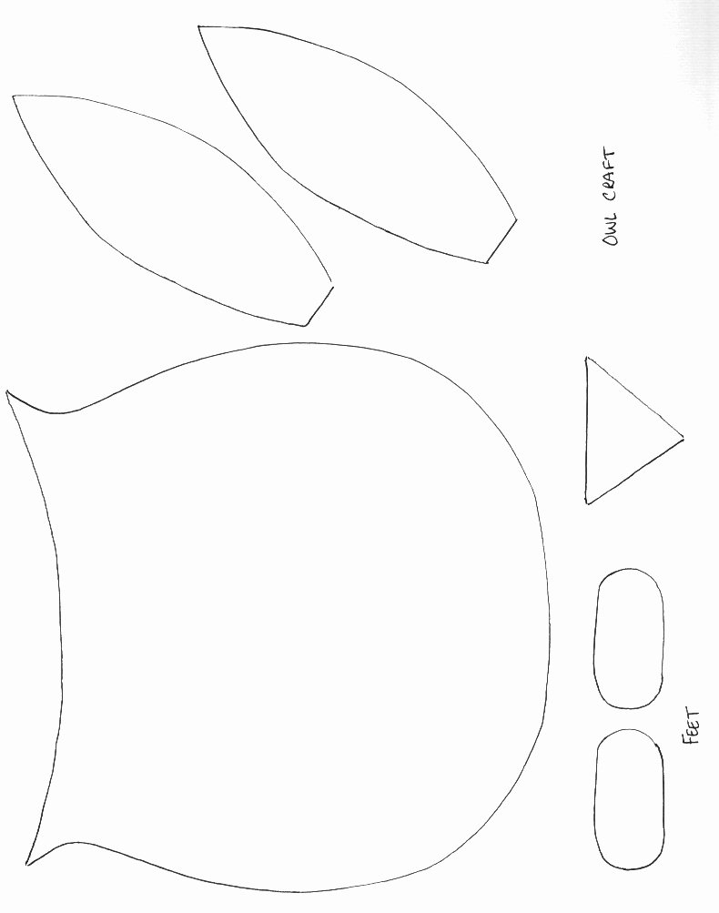 Free Printable Owl Template Lovely Owl Template