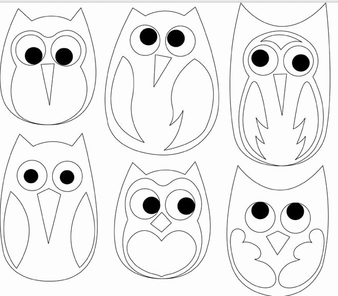 Free Printable Owl Template Luxury Free Printable Owl Template Coloring Home