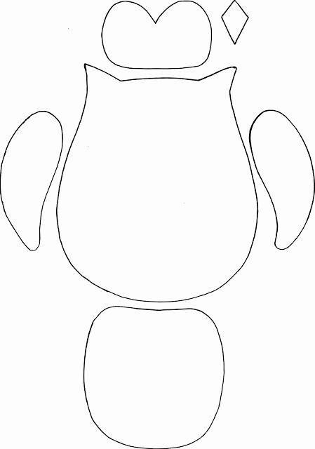 Free Printable Owl Template Luxury Simple Owl Cut Out Template