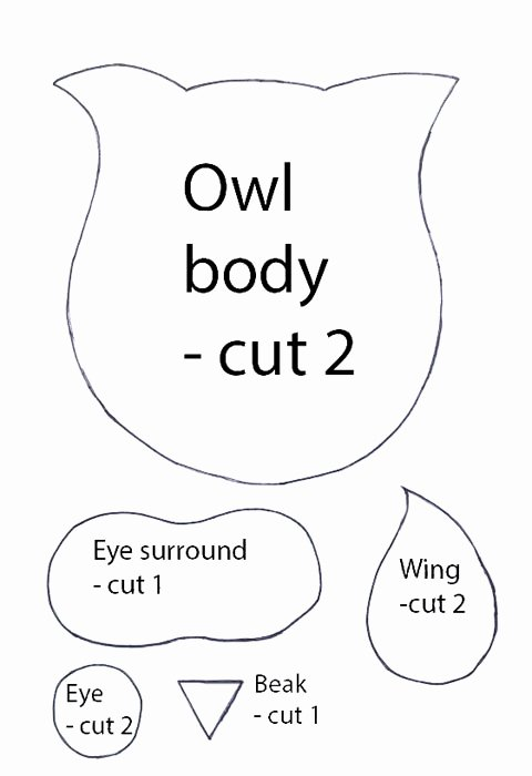 Free Printable Owl Template Unique Make An Owl soft toy Free Sewing Pattern Free Sewing