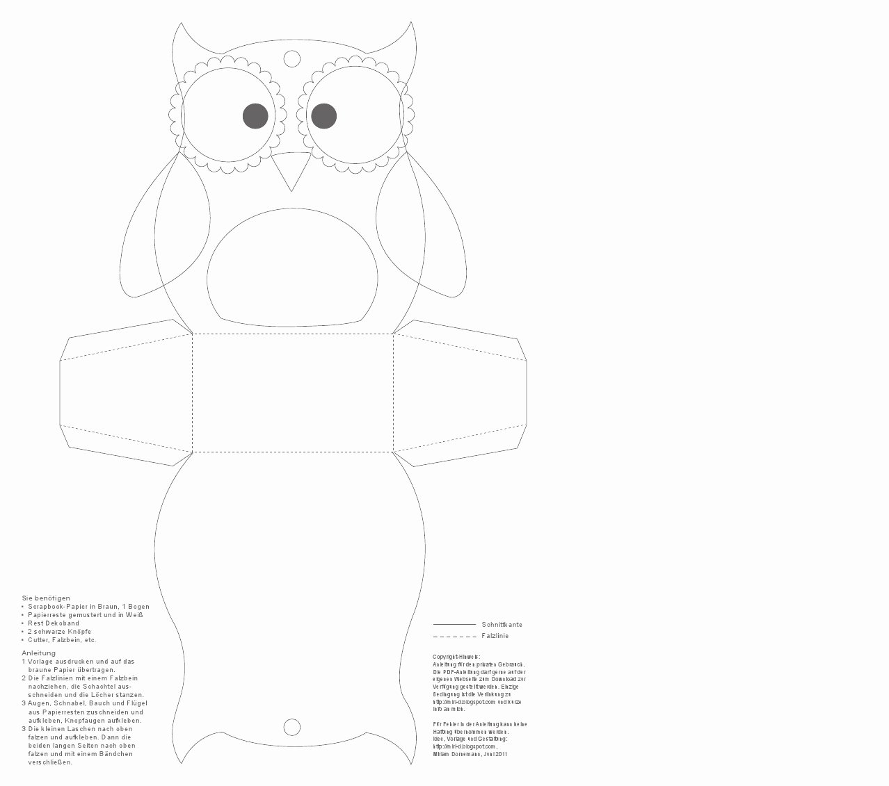 Free Printable Owl Template Unique Paper Owl Teacher Gift Inspired by Family
