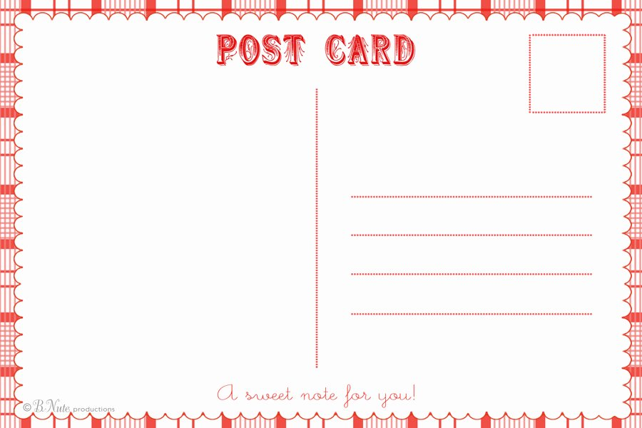 Free Printable Postcard Template Awesome 8 Best Of Free Printable Postcard Invitations
