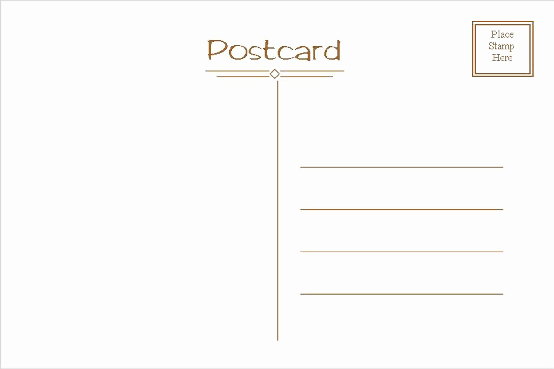 Free Printable Postcard Template Awesome Postcard Template Free