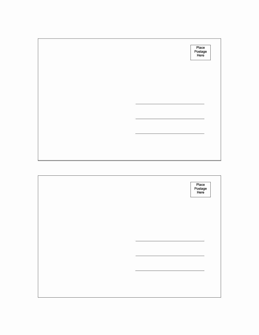Free Printable Postcard Template Fresh 40 Great Postcard Templates & Designs [word Pdf]