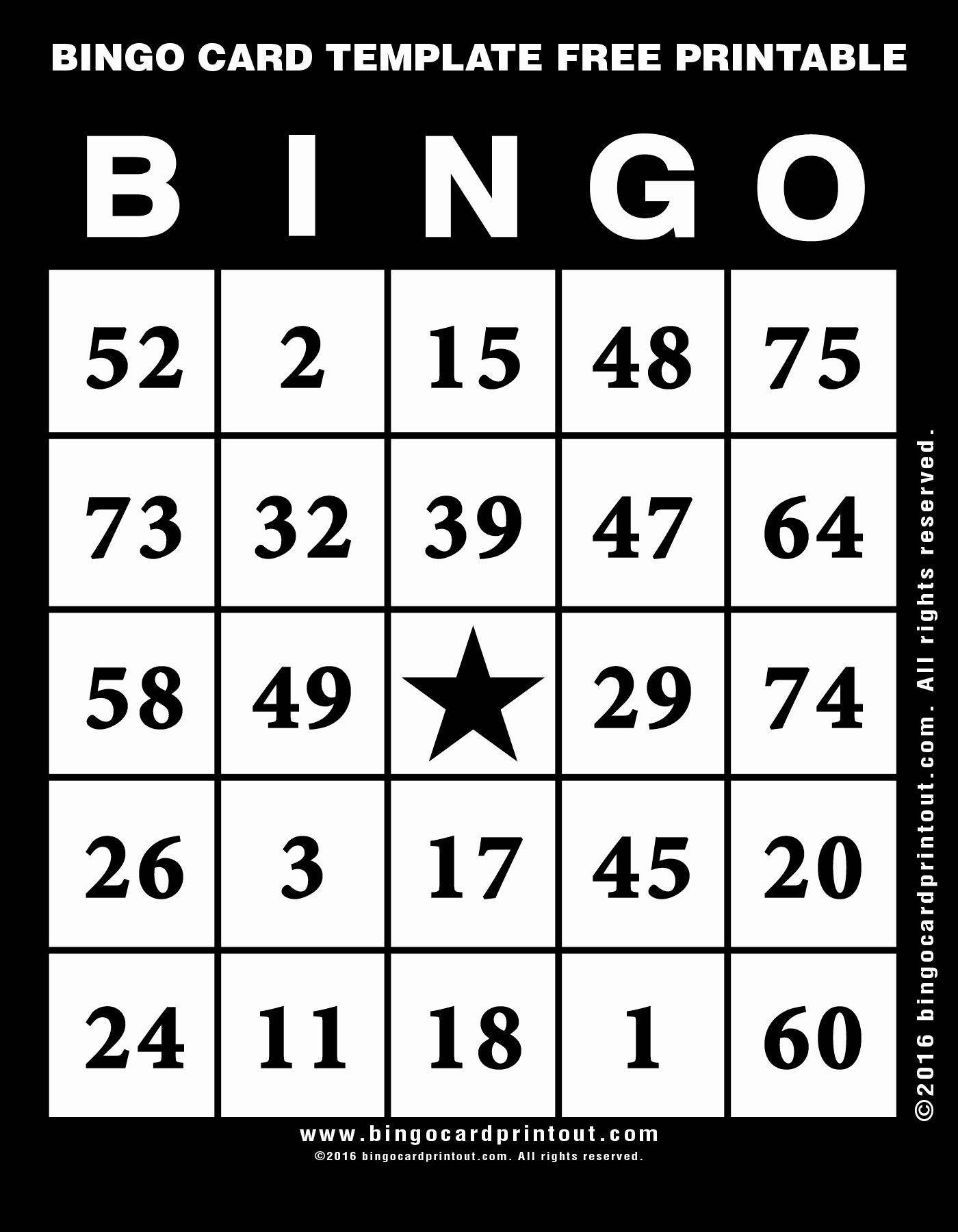 Free Printable Postcard Template Fresh Bingo Card Template Free Printable Bingocardprintout