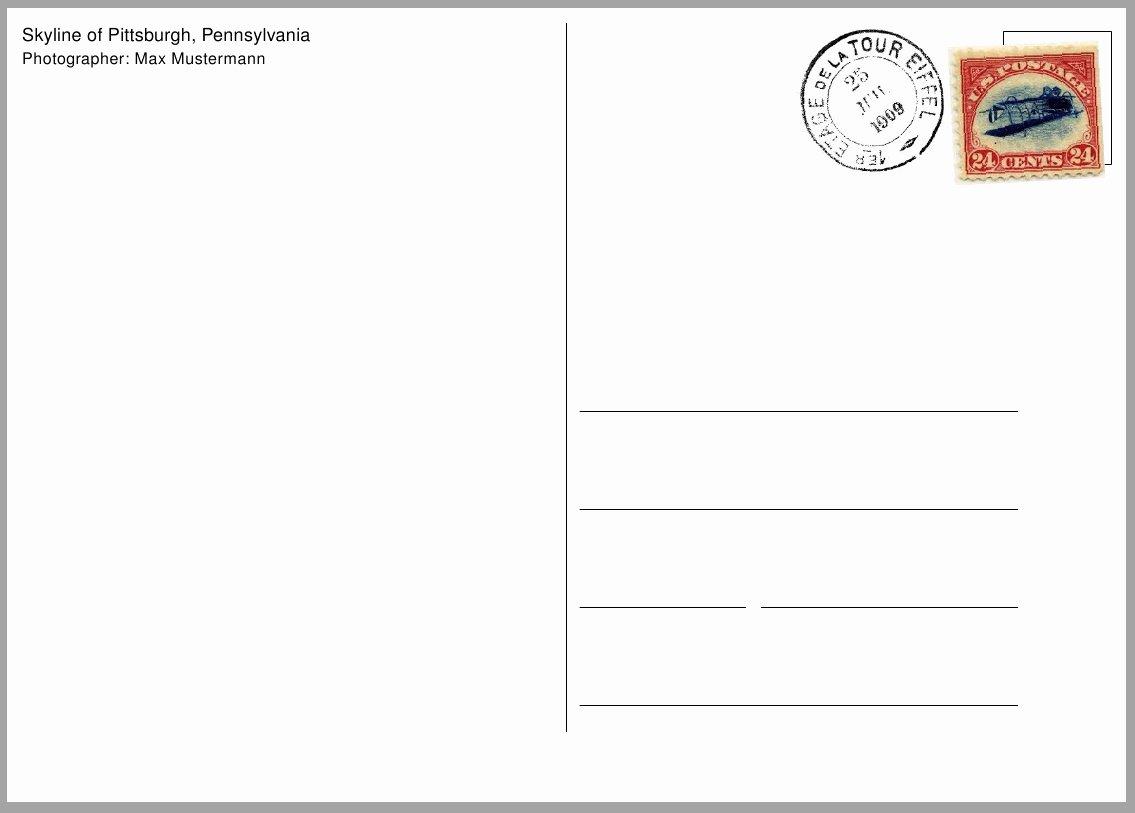 Free Printable Postcard Template Inspirational Free Postcard Pdf Free Postcard Templates