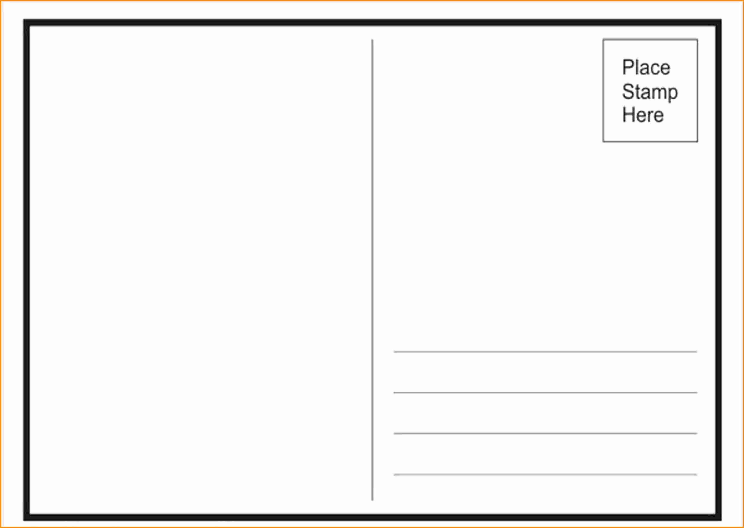Free Printable Postcard Template Lovely Free Postcard Templates for Word Portablegasgrillweber