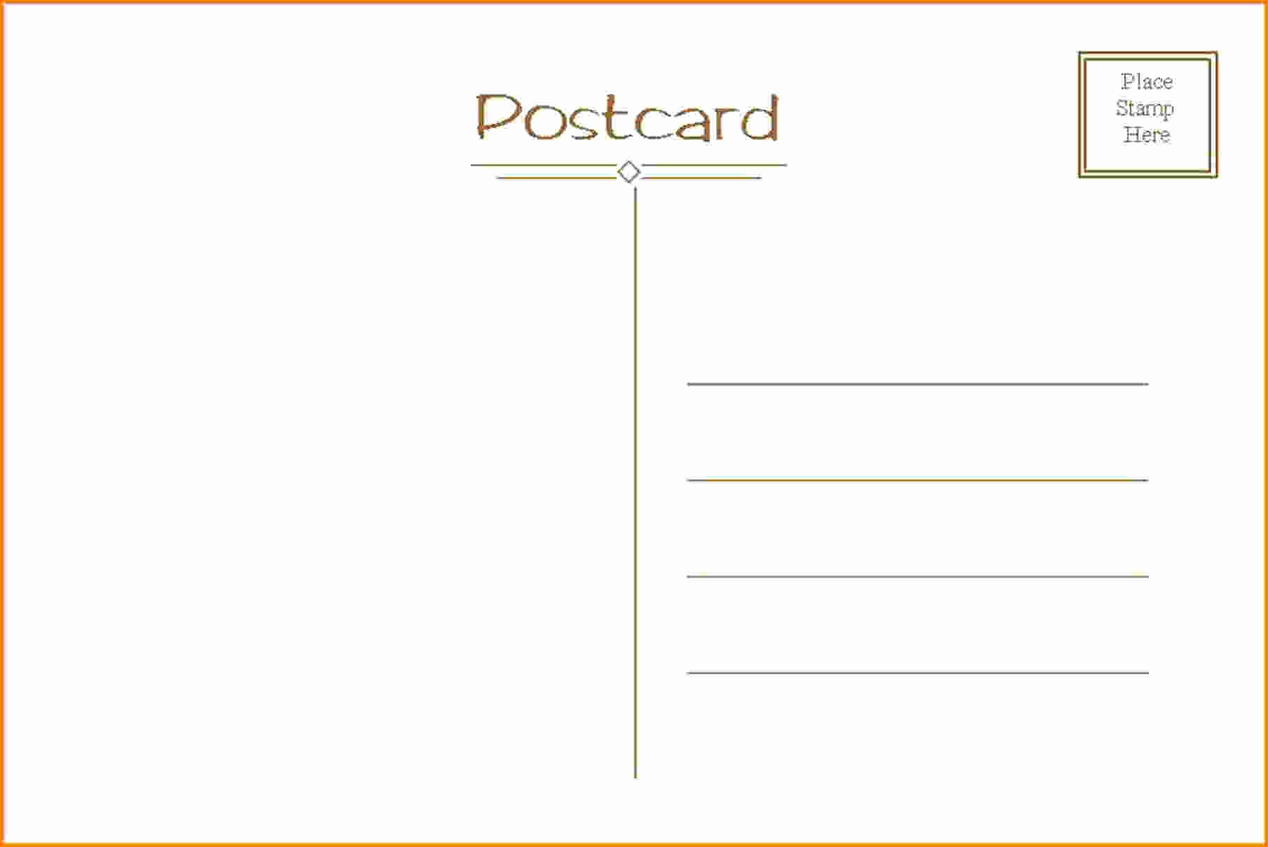 Free Printable Postcard Template Lovely Fresh Word Postcard Template Free Yourweek 86c718eca25e