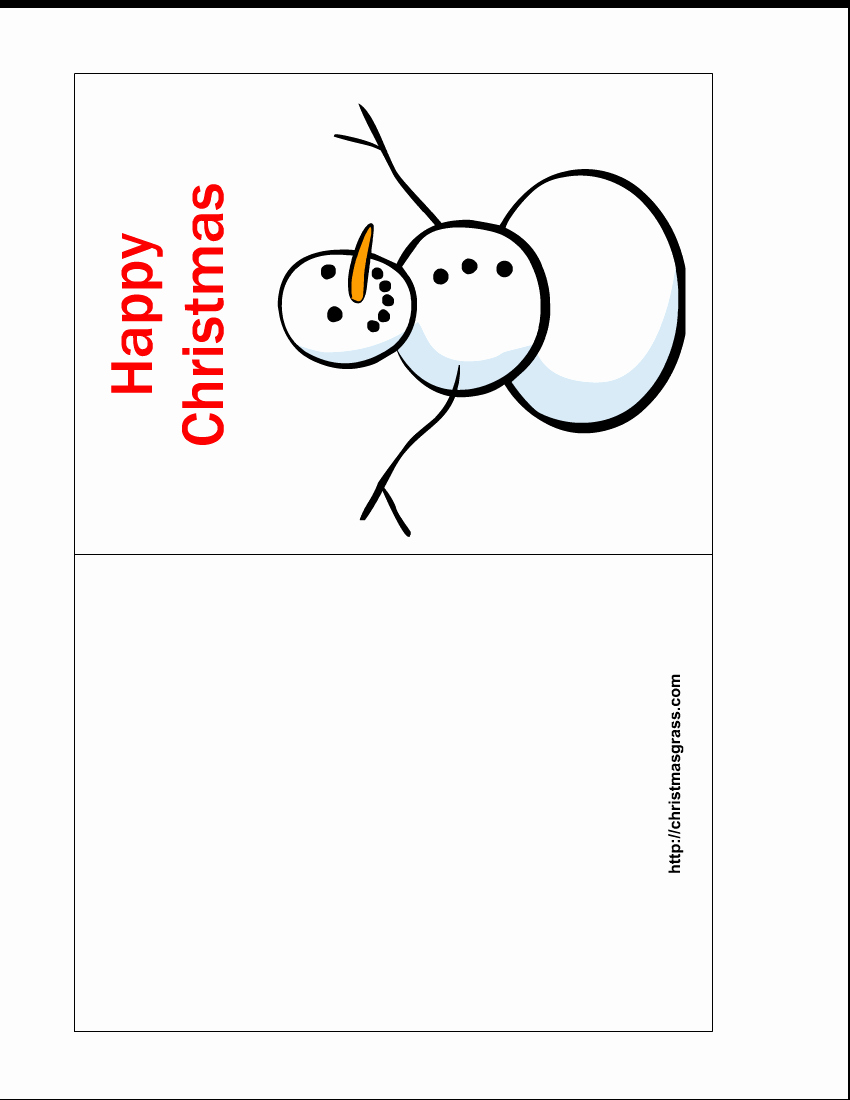 Free Printable Postcard Template Luxury Free Printable Happy Christmas Card with Snowman