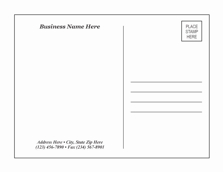 Free Printable Postcard Template New 40 Great Postcard Templates & Designs [word Pdf]