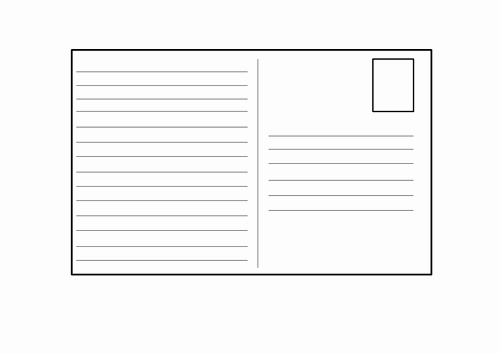 Free Printable Postcard Template New Blank Postcard Template by 4877jessie Teaching Resources