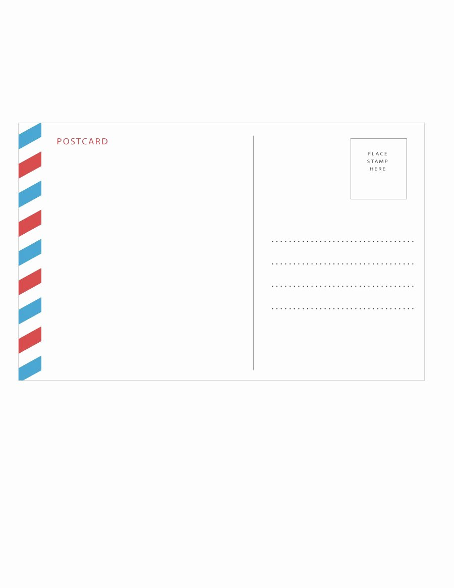 Free Printable Postcard Template Unique 40 Great Postcard Templates & Designs [word Pdf]