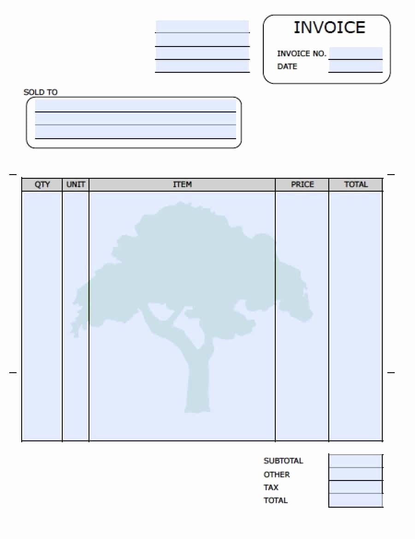 Free Printable Service Invoice Template Unique Free Landscaping Lawn Care Service Invoice Template