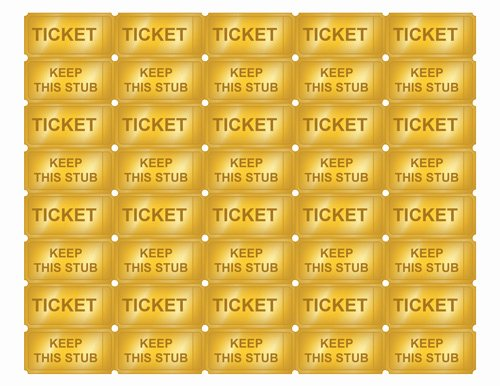 Free Printable Ticket Stub Template Elegant Free Printable Golden Ticket Templates