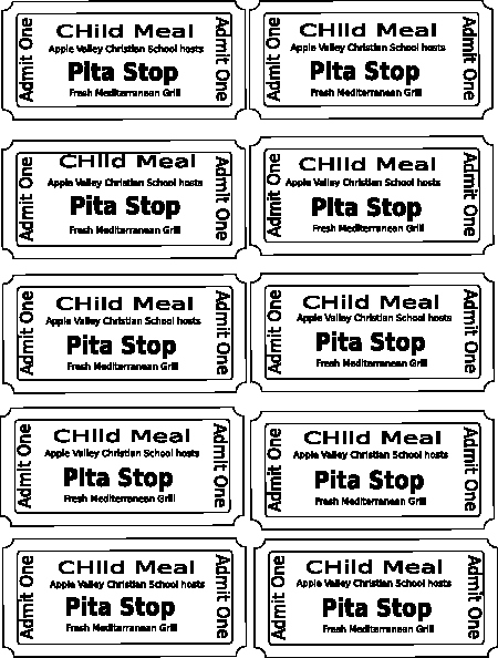 Free Printable Ticket Stub Template Inspirational Harvest Festival Food Tickets Clip Art at Clker