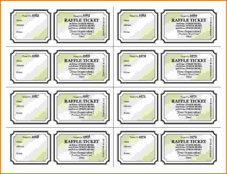 Free Printable Ticket Stub Template Lovely 6 7 Free Printable Raffle Tickets with Stubs