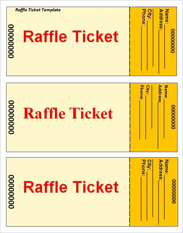 Free Printable Ticket Stub Template New Raffle Tickets Template Beepmunk