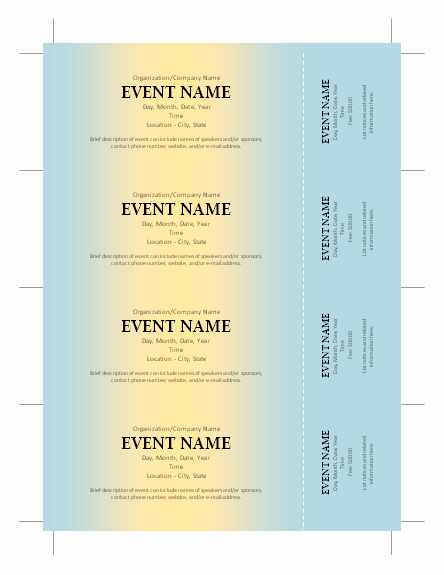 Free Printable Ticket Stub Template Unique Free Ticket Template …