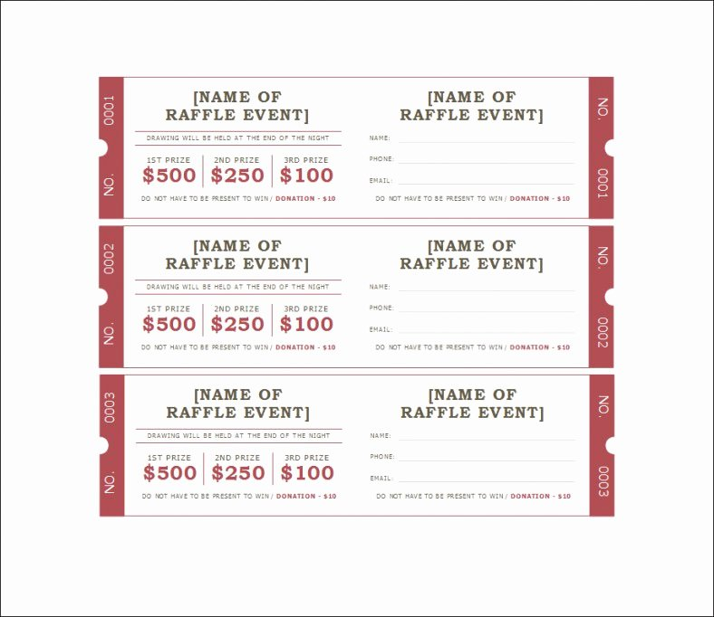 Free Printable Tickets Template Awesome 18 Sample Printable Raffle Ticket Templates Psd Ai