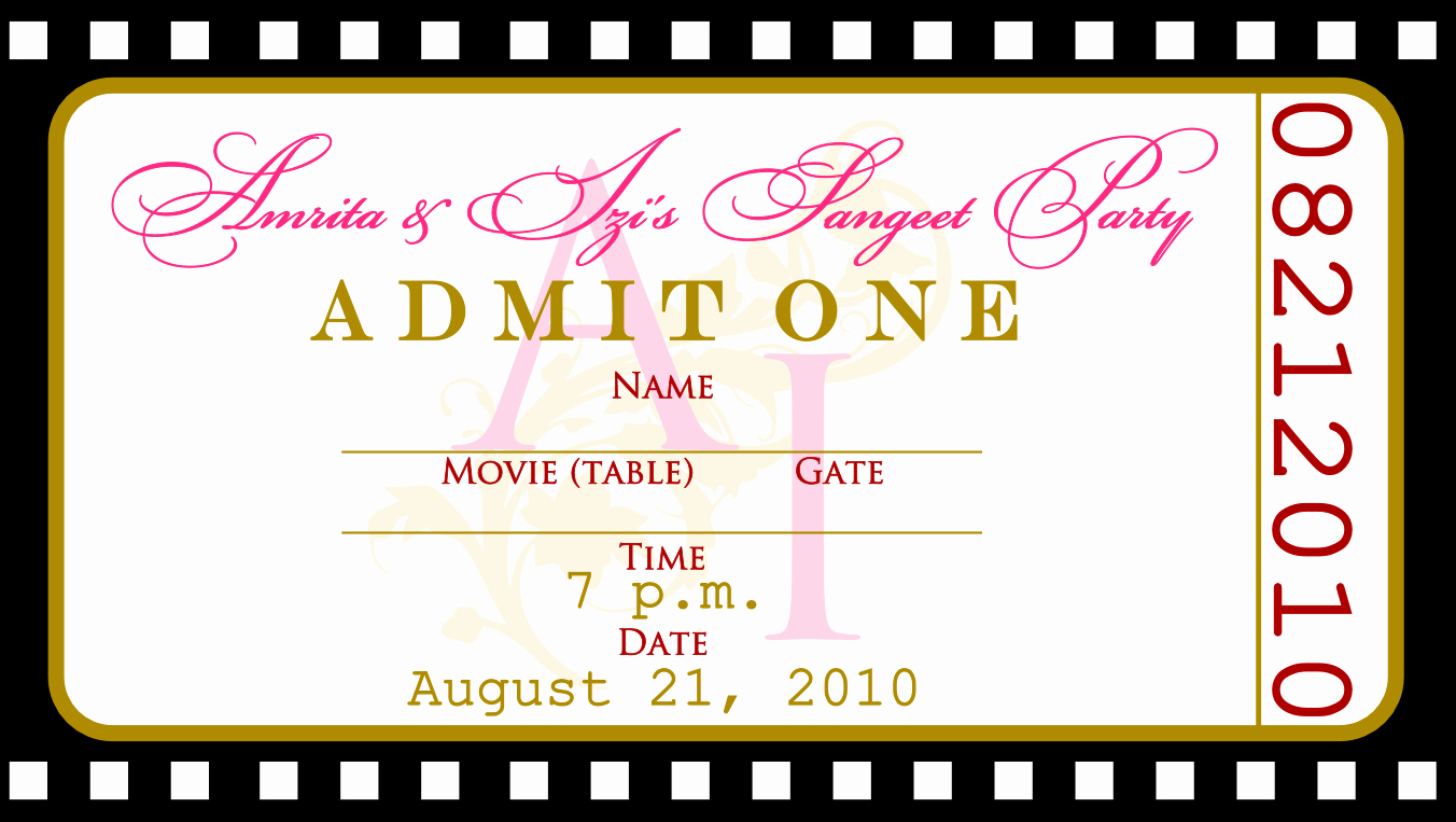 Free Printable Tickets Template Awesome Free Templates for Birthday Invitations