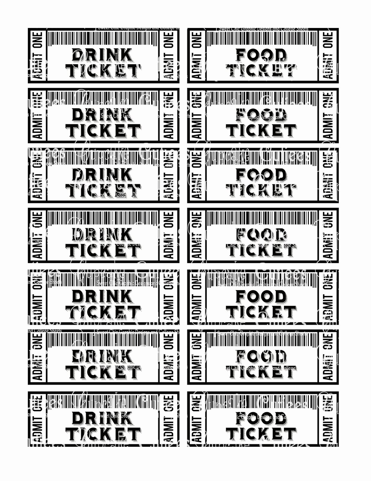 Free Printable Tickets Template Beautiful Food Ticket Template Portablegasgrillweber