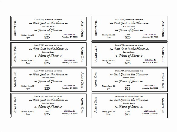 Free Printable Tickets Template Beautiful Ticket Templates – 99 Free Word Excel Pdf Psd Eps
