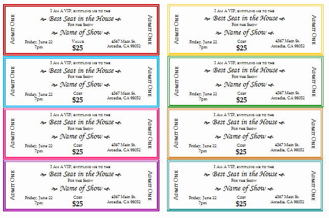 Free Printable Tickets Template Elegant 12 Free event Ticket Templates for Word Make Your Own