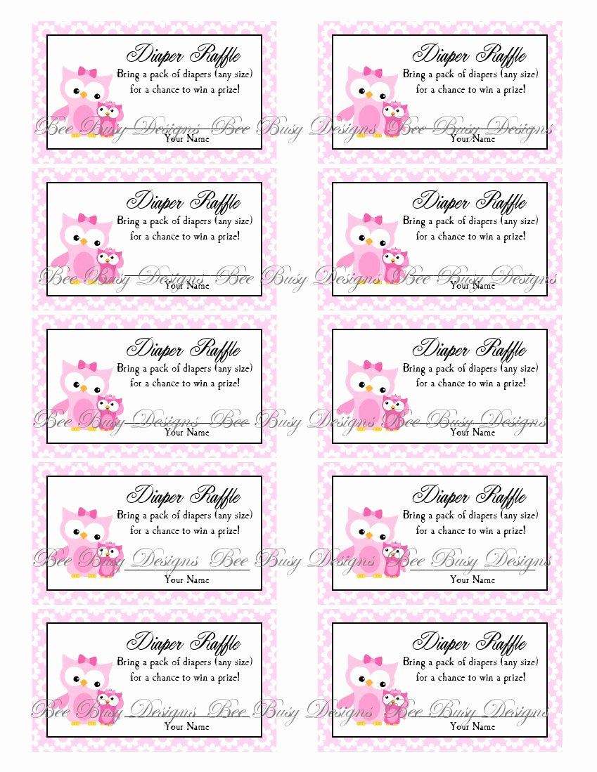 Free Printable Tickets Template Elegant 9 Best Of Diaper Raffle Free Printables Free