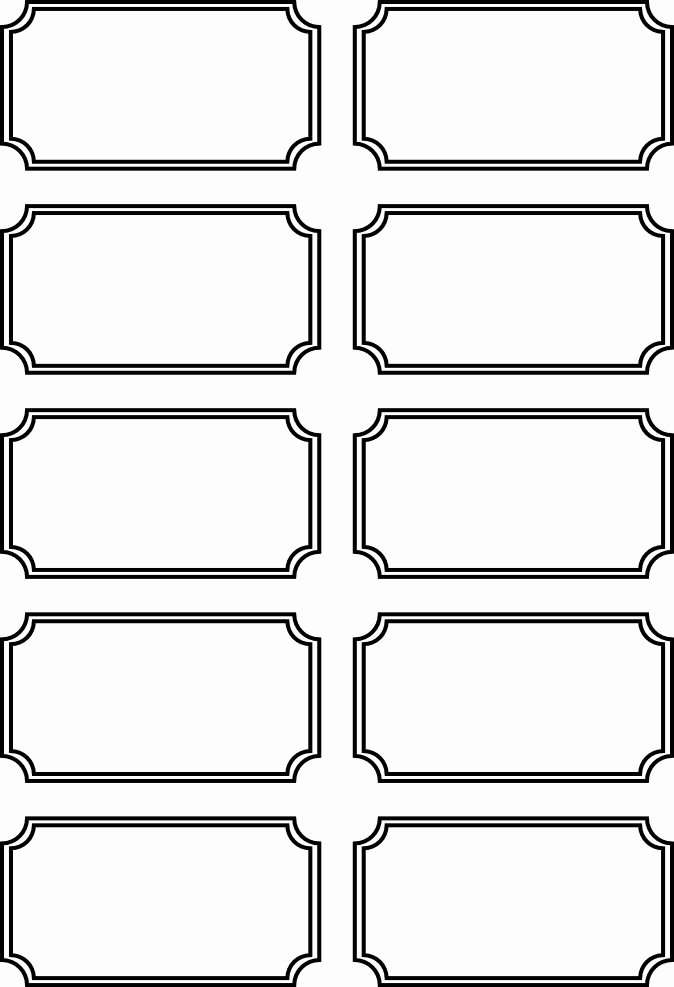 Free Printable Tickets Template Fresh 5 Best Of Printable Door Prize Tickets Sheets