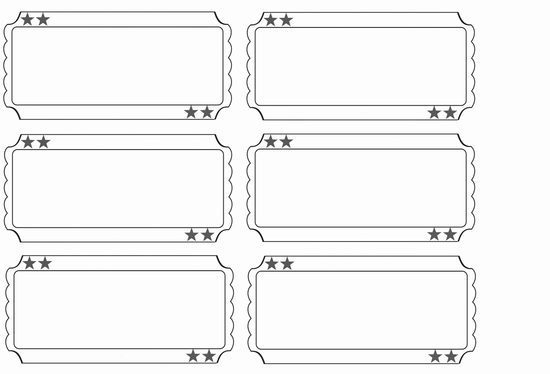 Free Printable Tickets Template Fresh Printable Raffle Tickets Blank Kids Google Search