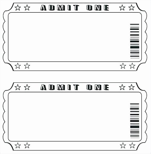 Free Printable Tickets Template Fresh Tickets Template Drawing at Free for Personal Use Raffle