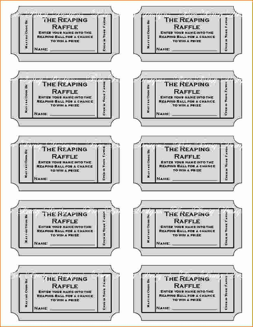 Free Printable Tickets Template Lovely Free Printable Raffle Tickets with Stubs Free Download
