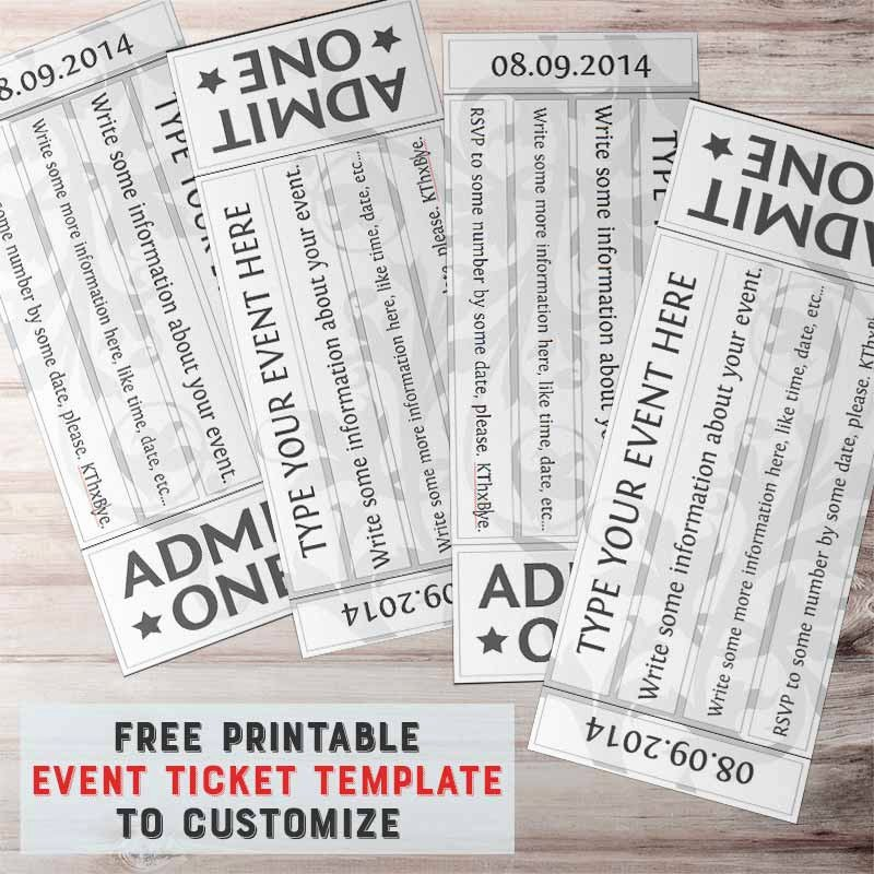 Free Printable Tickets Template New Free Printable event Ticket Template to Customize