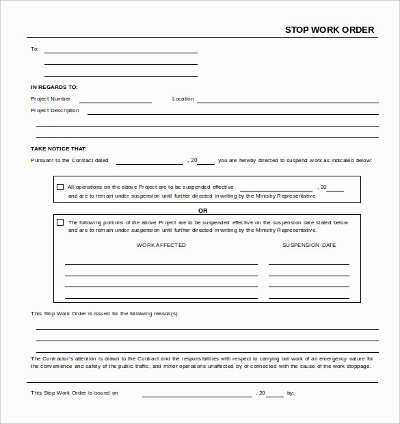 Free Printable Work order Template Unique Work order Template 23 Free Word Excel Pdf Document