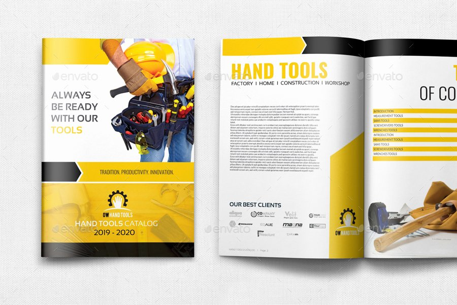Free Product Catalog Template Awesome Hand tools Catalog Brochure Bundle by Ow