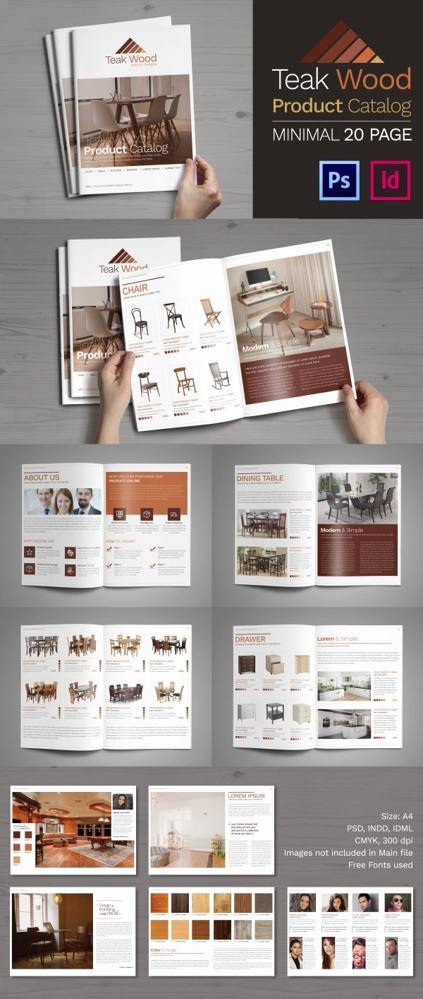 Free Product Catalog Template Awesome Psd Catalogue Template 53 Psd Illustrator Eps